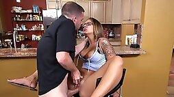 Naughty girl fucked her boyfriends best friend