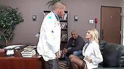 Doctor Audrey Show gets punished with a good spanking & a fuck session