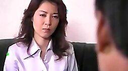 Japanese busty mom blows and fucks