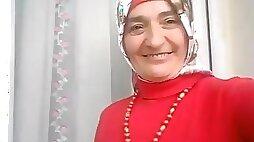 Turkish granny in hijab