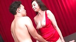 Japanese mature wants to feel the fresh inches in both holes