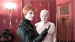 Mistress and very old male slave