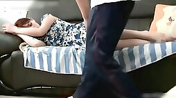 Sleeping mom gets bonked by horny stepson