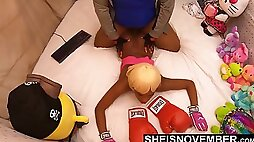 Please Stop ! This Sex Hurts. Msnovember Pushed Face Down Ass Up Into Couch And Painfull Fucked By Her StepDad Dominating Her Arching Back, Penetrating Her Black Nerd Pussy Sheisnovember