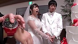 Christian Japanese wedding with the busty bride and the brides maid fucked in church