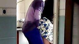 Chinese MILF in the Kitchen (hidden cam)