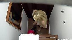 Amateur girl gets butt hole massage