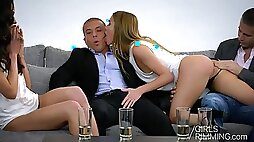 Cum swapping and anal rimming girls Nataly Gold and Alexis Crystal