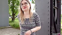 GERMAN SCOUT - CANDID BERLIN GIRLS FIRST FFM 3SOME PICKUP