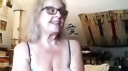 Slutty grandma is being fucked in this live webcam show