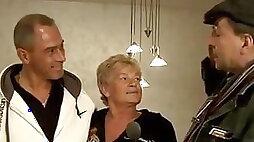Charming German granny Helga 67 with her husband