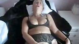 German BBW wife masturbates before i fuck her mish style