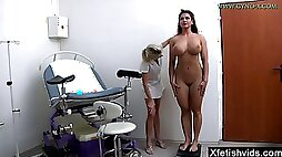 Very busty babe medical fetish