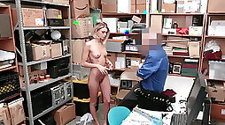 Police officer puts advanced search tactics on shoplifter Emma Hix