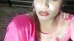 Indiancrossdresser alisha self assfuck faux-cock plow