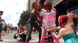 Folsom Street Fair Sissy Handjob - Femdom Video