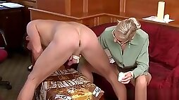 Innocent Looking Villein Made To Suck Hard Rod While Toyed
