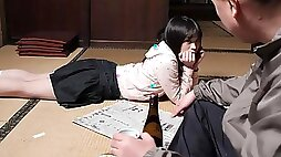Mai Shimizu in Mai Shimizu had a sexual experience with her nasty step- father - AviDolz