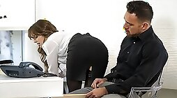 Awesome office sex with a passionate secretary Kimmy Granger