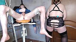 Mistress rewards slave with urine enema (no sound)