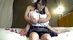 Japanese amateur uncensored JD yuka school uniform cosplay 1
