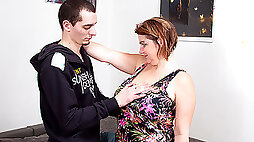 Big Breasted Mature Slut Fucking With Her Toy Boy - MatureNL