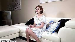 18 year old amateur in he first casting scene