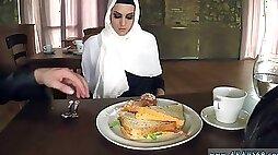 Terrorist arab Hungry Woman Gets Food and Shag