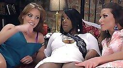Huge tits ebony dp lezdom fisted