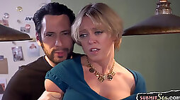 MILF gets gagged and flogged during bondage