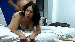 I fucked chubby Spanish mamma doggy style so she was moaning like dirty slut