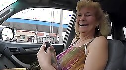 Slutty grandmother sucks and fucks in the hotel room