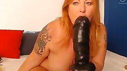Tammy Jean Love Her Huge Dildo Called Bel Amy