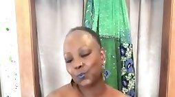 Ebony mature milf yoga lady ass play