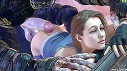 Jill Valentine internal ejaculation - RE3 Remake