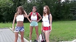 Lustful Nicole Love knows how to spend summer vacation with her sexy chicks