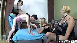 Very Hot MILF femdom pegging and ejaculate