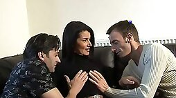 Cute Georgina Smith Has A Wild Threesome With Two Guys