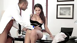 Valentina Nappi gets banged at work