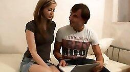 18videoz - Sex for Cash Turns Shy Girl into a Slut