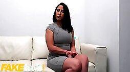 Spanish Babe Adara Love Rides Agents Cock