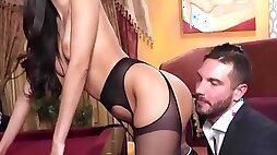 Uber-sexy slender arse latina my mates trophy wife cuckold sesh