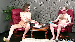 Naughty doll gets sperm load on her face swallowing all